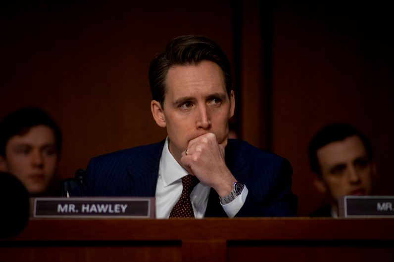 Senator JOSHUA D. HAWLEY (R-MO) at WILLIAM BARR's confirmation hearing to become Attorney General of the United States, January 15, 2019