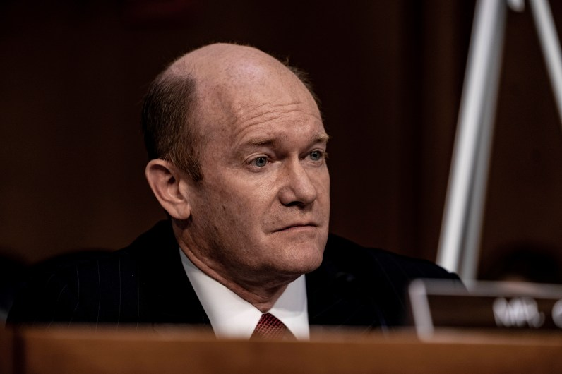 Senator CHRIS COONS (D-DE) during Judge BRETT KAVANAUGH's confirmation hearing, September 5, 2018