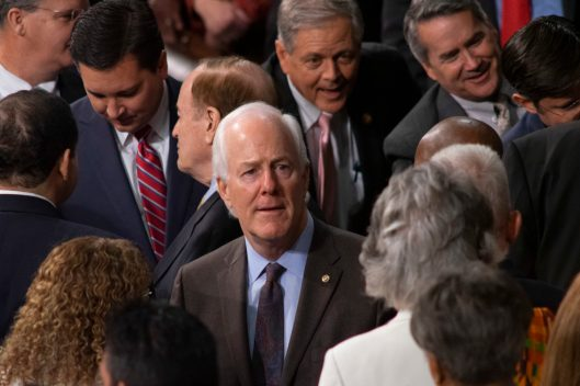 Senate Majority Whip JOHN CORNYN (R-TX) at the State of the Union address, Tuesday February 5, 2019