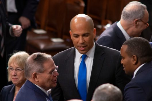 Senator CORY BOOKER (D-NJ) at the State of the Union address, February 5, 2019