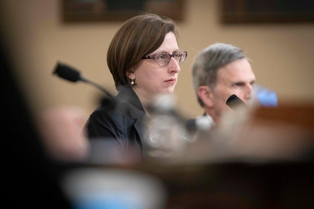 LAURA COOPER, deputy assistant secretary of Defense, testifies before the House Intelligence Committee. November 20, 2019