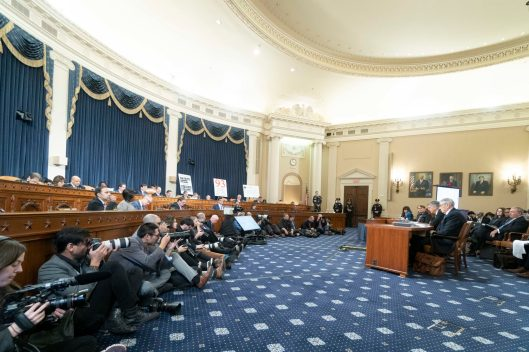 WILLIAM TAYLOR, former Ambassador of the United States to Ukraine and GEORGE KENT, Deputy Assistant Secretary for European and Eurasian Affairs testify before the House Intelligence Committee on the first day of public impeachment hearings against President Donald Trump, November 13, 2019