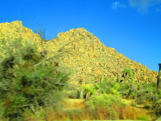 Sometimes the view from the car window can be blurry.
