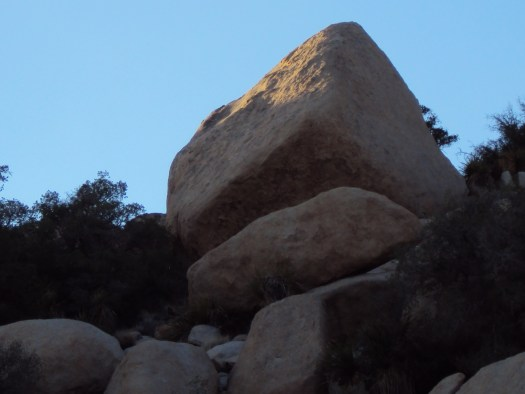 The boulders all all stacked up.