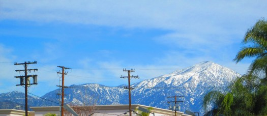 Snow on Mount San Gorgonio.