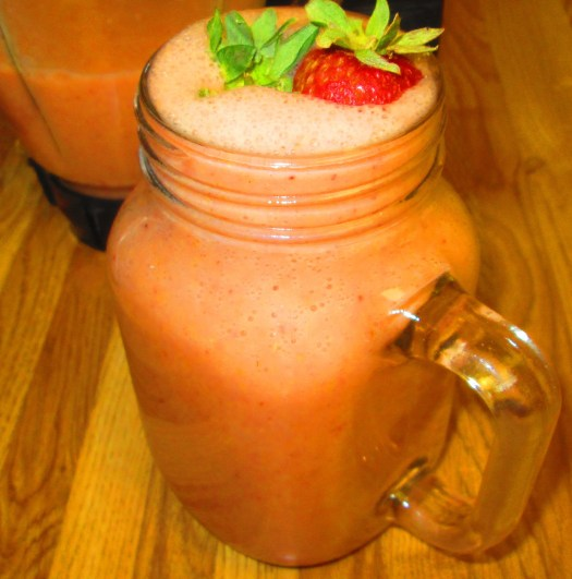 Zemene is the Latvian word for strawberry, which is fruit in this smoothie.