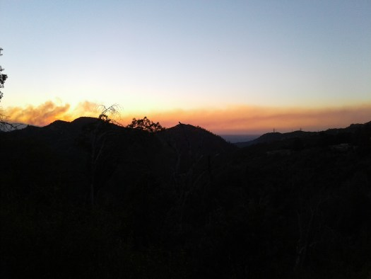 A subdued sunset in the San Bernardino Mountains.