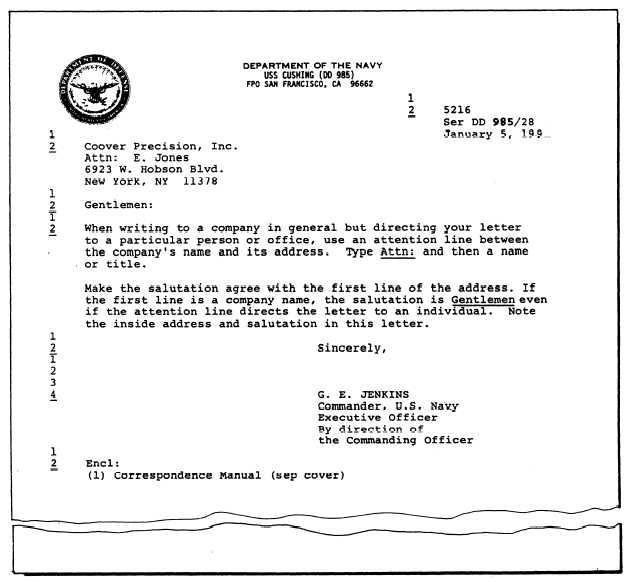 Cover letter format enclosure