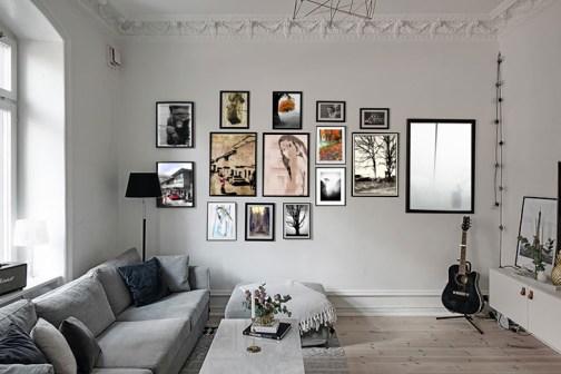 Фото на стене: как правильно располагать