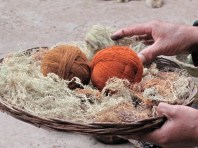 Dying wool in Chinchero
