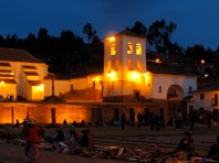 Chinchero market at dusk
