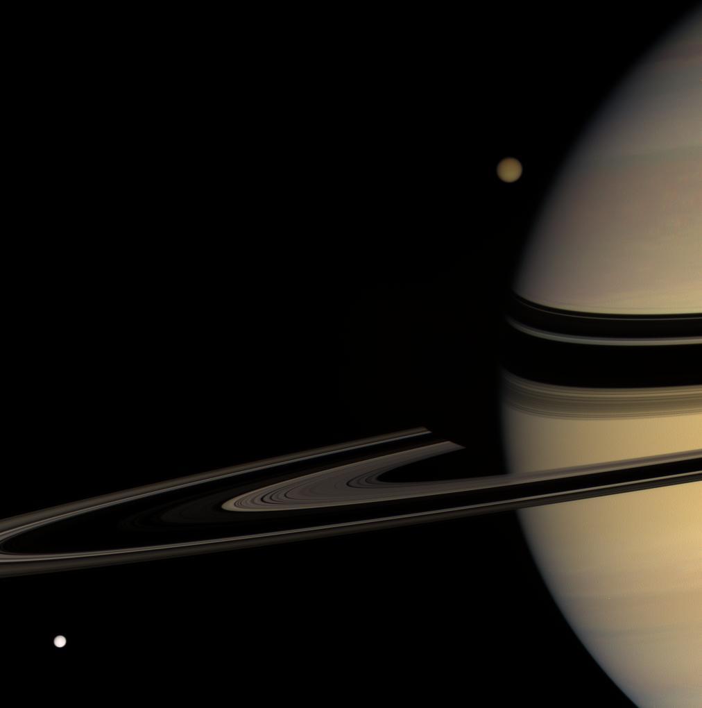Saturn, Titan & Tethys