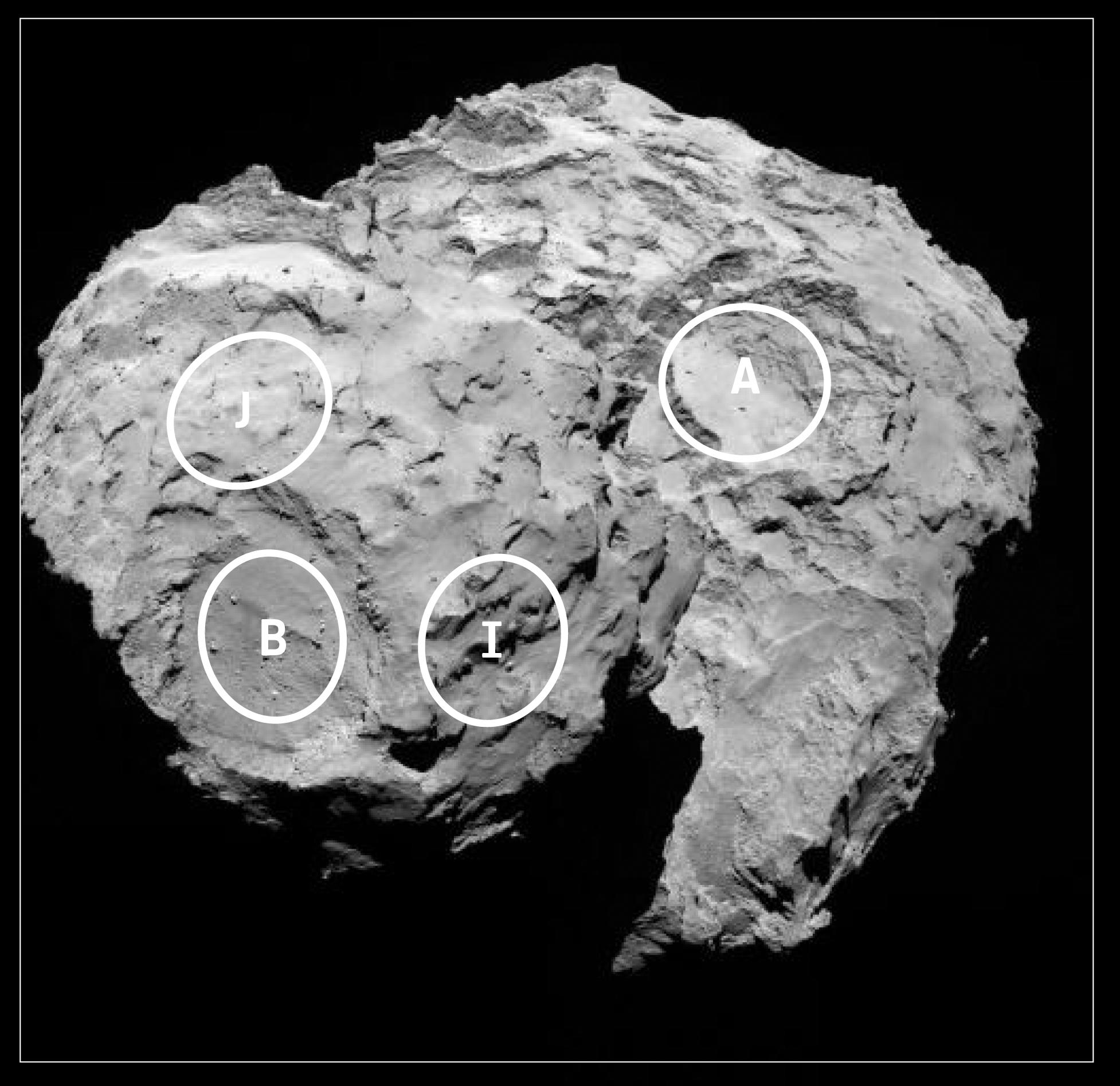 5 landing sites picked for daring comet touchdown – Astro Bob