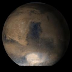 Syrtis Major: another area where methane emissions have been found on Mars. (Mars Global Surveyor image)