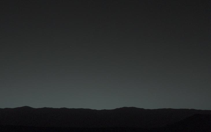 Earth. Seen from Mars.