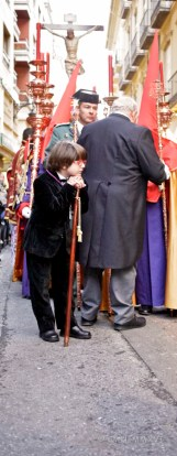 The long, slow moving procession is hard on the young ones