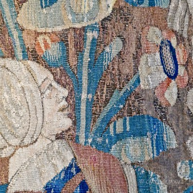 Detail of tapestry in dining room