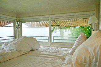 The platform bed was almost waist high, so one can enjoy the view even laying down.