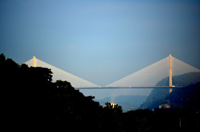 Centennial Bridge Panama Canal by Weston Wishart