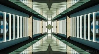 Terminal passageway. Photo of corridor in the Houston International Airport terminal building, Houston, Texas.