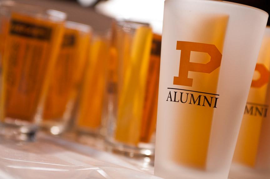 Purdue University tumblers at senior day activities.