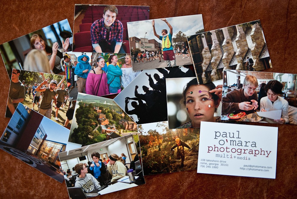 New business cards for paul omara photography and multimedia