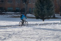 Bicycling in the snow, ISU