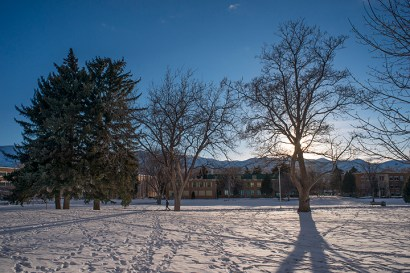 Late winter afternoon at ISU