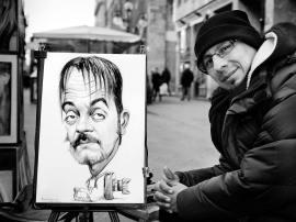 Diego Bardone in una caricatura di Percybal Zuniga