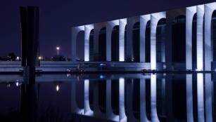 Fabrizio Crippa, Inaugurazione della nuova illuminazione permanente del palazzo, sede Mondadori, progettato da Oscar Niemeyer 05