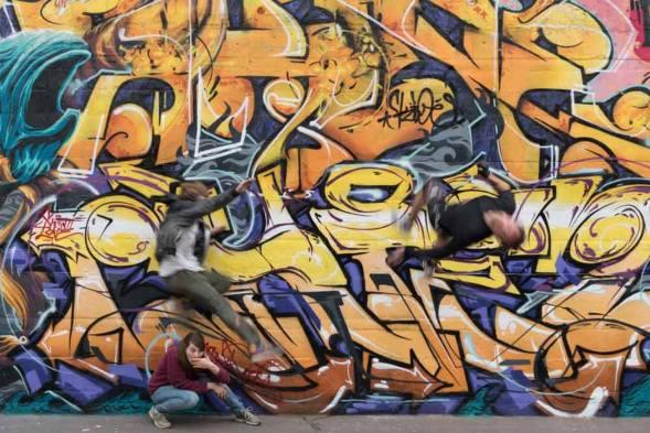 Giovanni Candida, Sono venuti dalla Germania a cercare i Muri Liberi di Milano- A lavoro concluso si festeggia