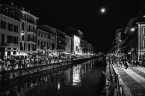 Antonio Renzo 005, La luna e il Naviglio