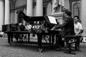 Daniela Borsari 007, Pianocity 2017, cortile della Pinacoteca di Brera