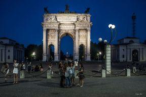 Luigi Alloni 008, Milano di notte, Arco della Pace
