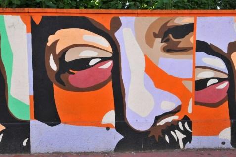 lungo i muri di villa sheibler il murales in onore di borsellino