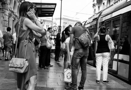 Enrico Nocito 004, Il bacio, Fermata linea 14 - via Torino