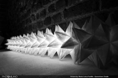 Origami tra Arte e Scienza a Spazio Tadini, foto di Maria Luisa Paolillo
