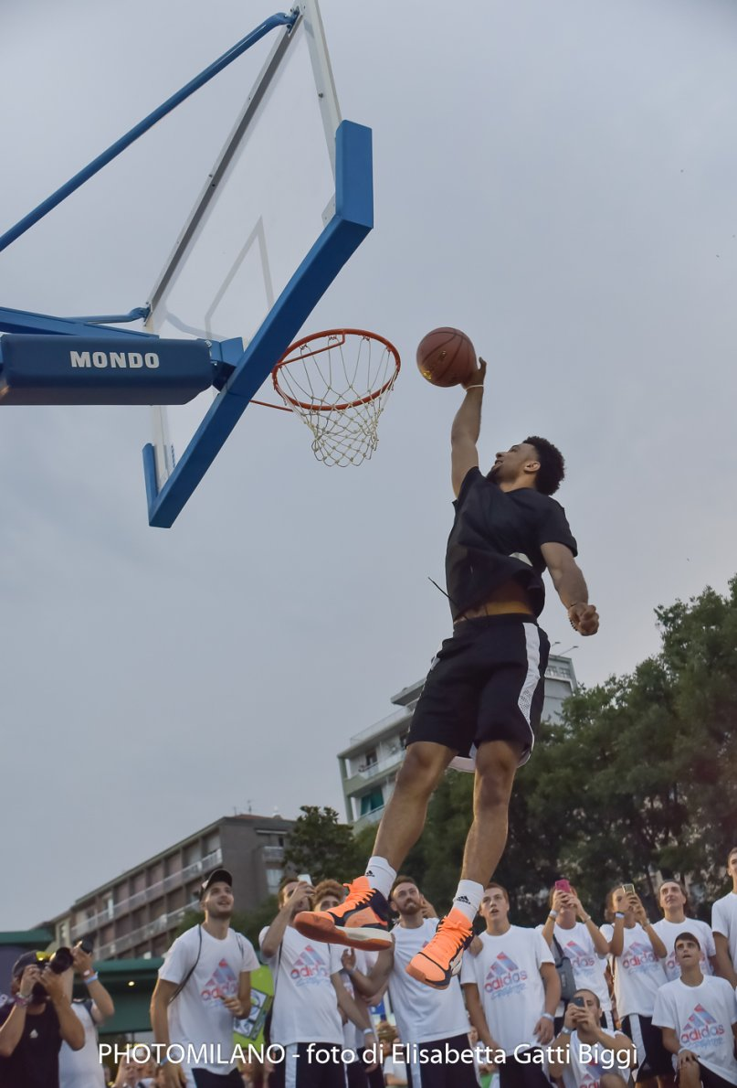 Jamal Murray ad adidas Playground Milano League, foto di Elisabetta Gatti Biggì