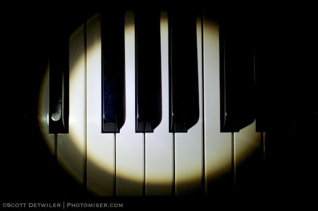Spotlight Piano Keys
