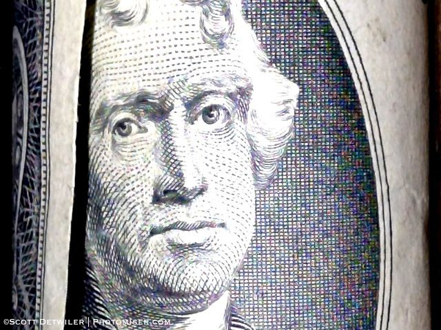 Jefferson on two dollar bill