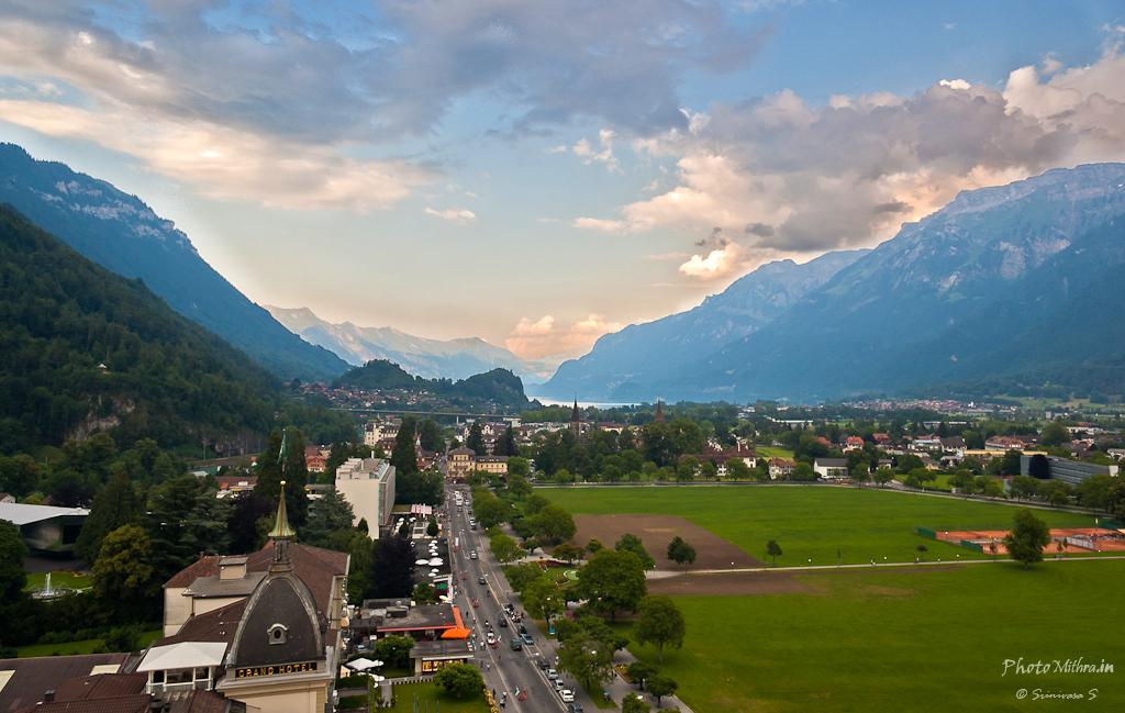 View of Interlaken town