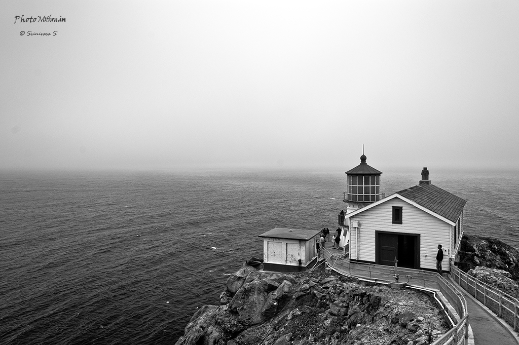 Foggy day at Point Reyes lighthouse