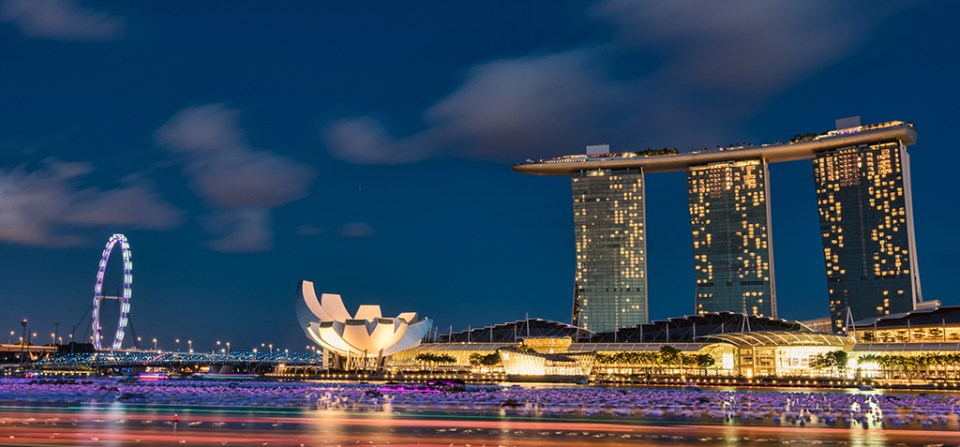 Quest for a perfect sunset in Singapore