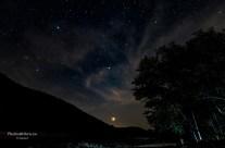 View of setting Venus
