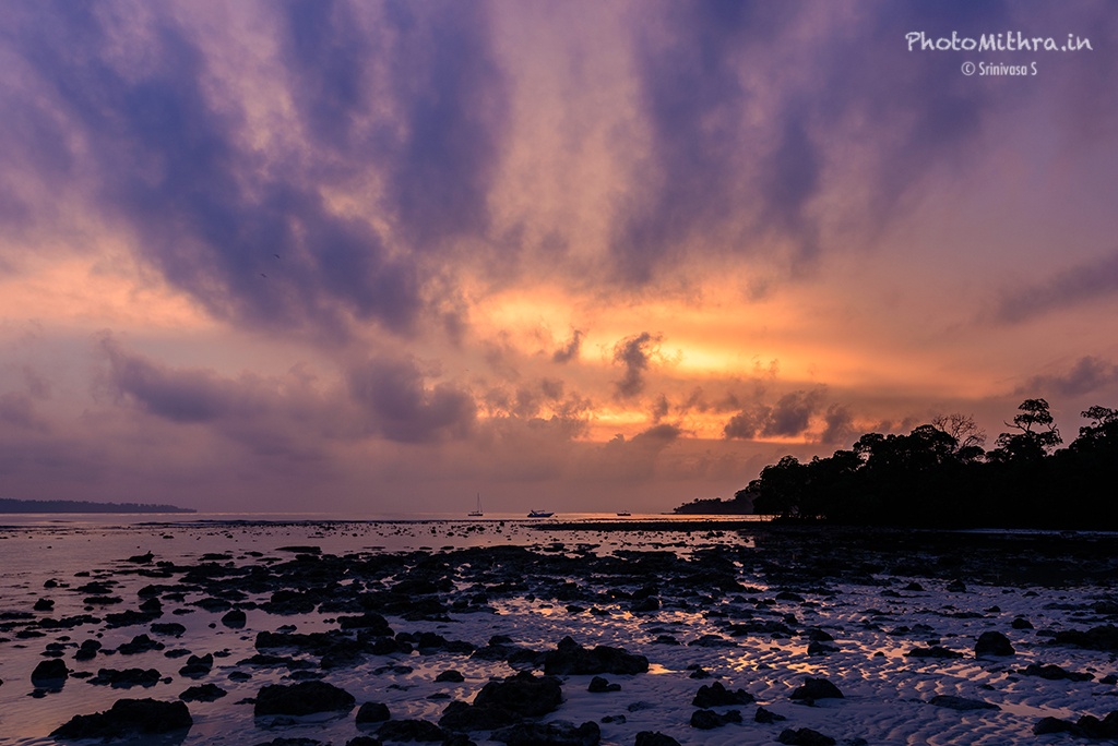 Morning colors at Vijayanagar beach, Havelock island