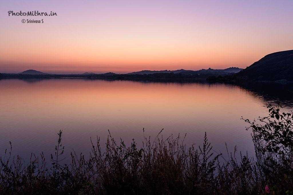 Pre-dawn lakeside