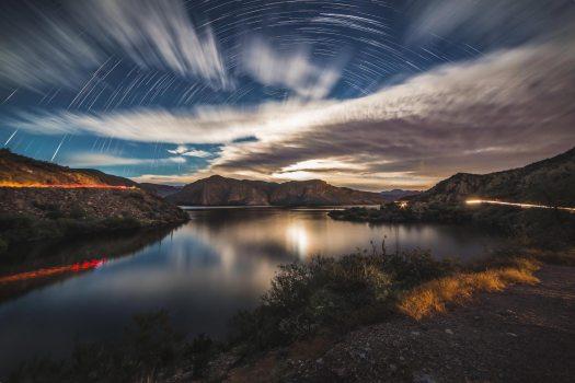 moonlit-landscapes-lake-star-trails