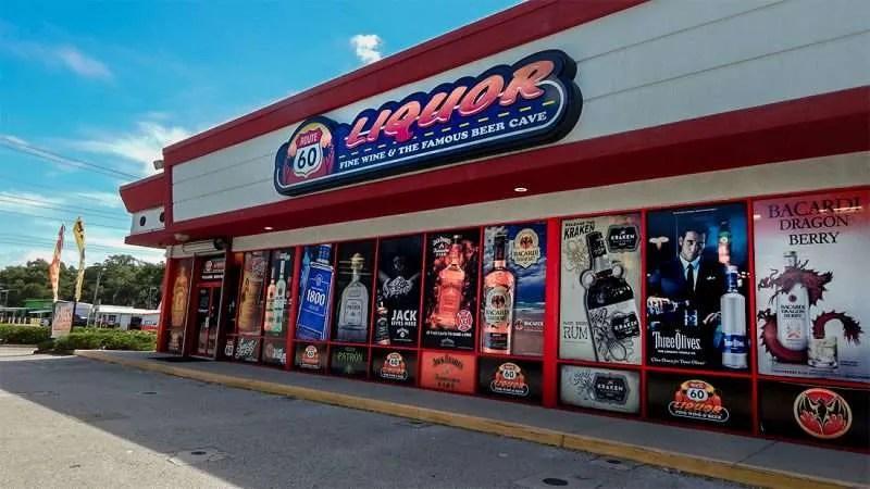 Route 60 Liquor Uses Colorful Window Graphics In Brandon FL Photo News 247