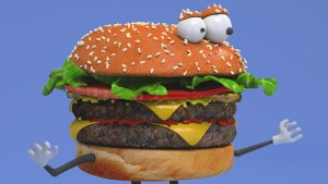 3D Cheesburger Character