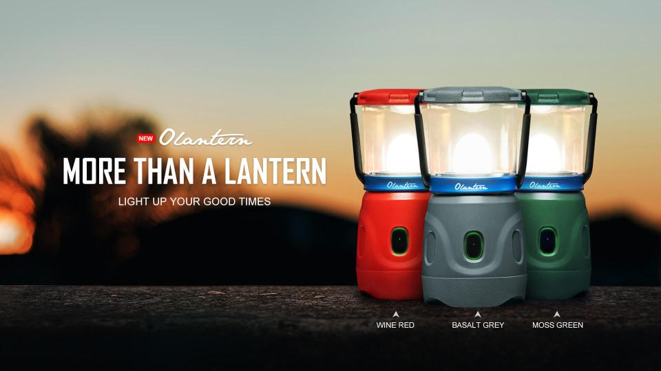 Olight Camping Lantern Olantern in Red, Grey and green
